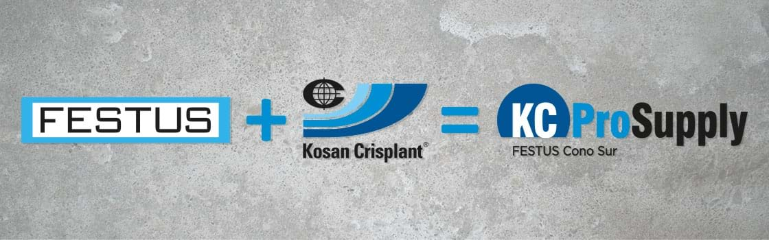 image of three logos, FESTUS, KosanCrisplant and KC ProSupply FESTUS Cono Sur