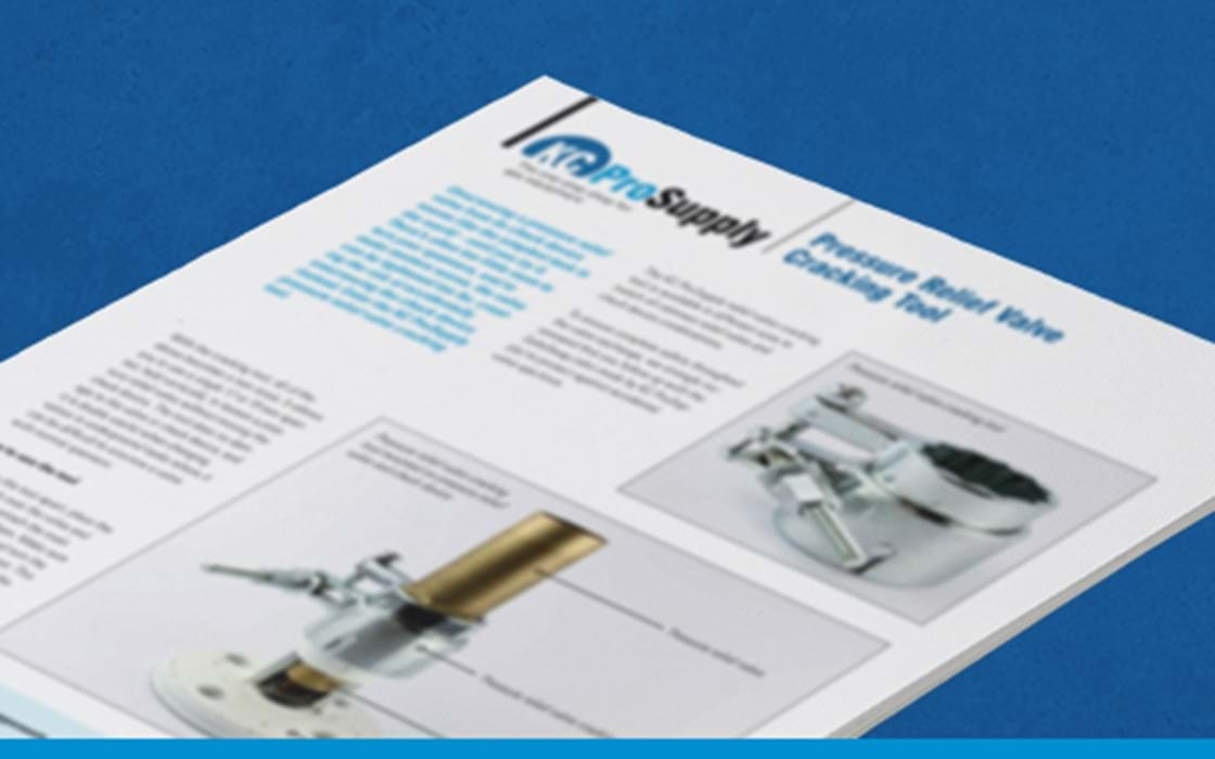 image of KC ProSupply Pressure relief valve cracking tool product sheet
