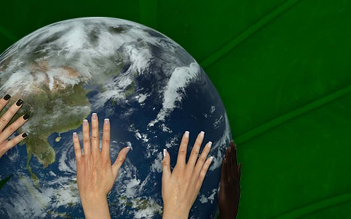 image of hands holding Earth, different cultures